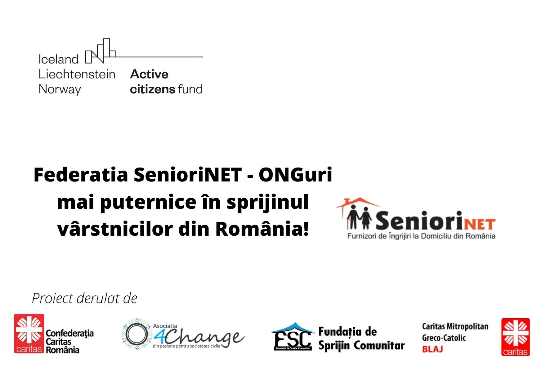Federația SenioriNet – ONG-uri mai puternice în sprijinul vârstnicilor din România